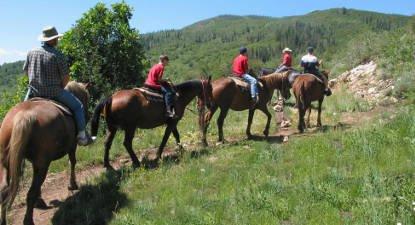 balade à cheval crins du col